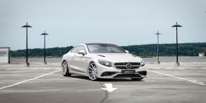 Auffällige Aerodynamik: Das Mercedes S 63 AMG Coupé wurde dezent verschönert