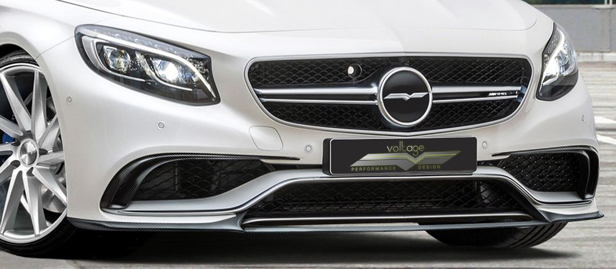 Weg mit dem Stern: Das Mercedes S 63 AMG Coupé trägt das VD-Logo