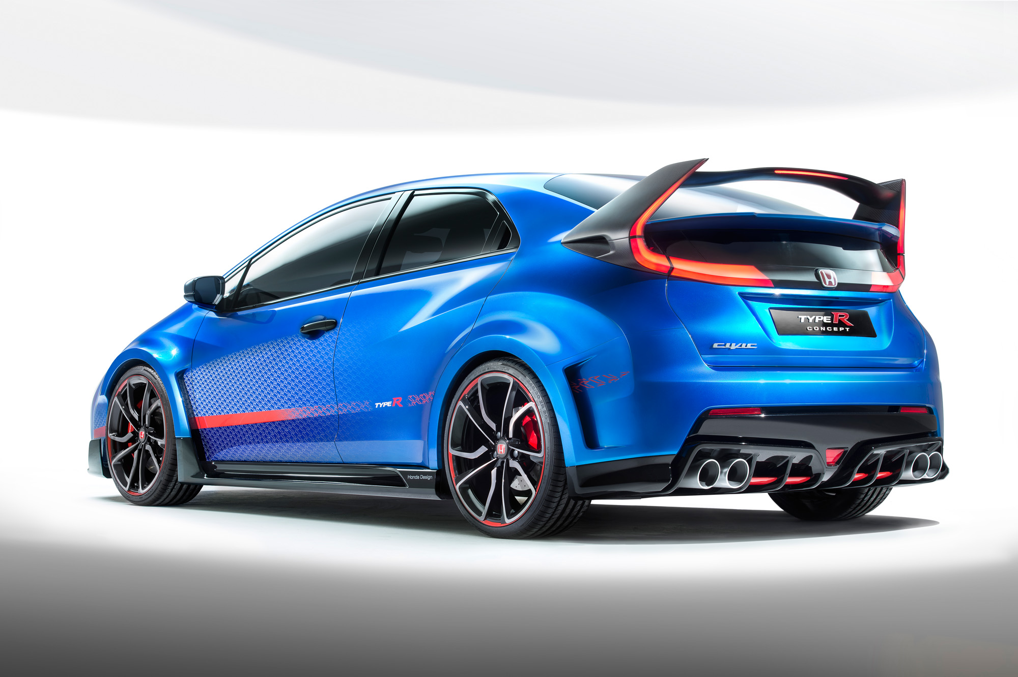 honda civic type r concept knapp 300 ps an der front. Black Bedroom Furniture Sets. Home Design Ideas
