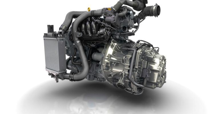 Aufgeladener Vierzylinder-Motor des Renault Clio R.S.