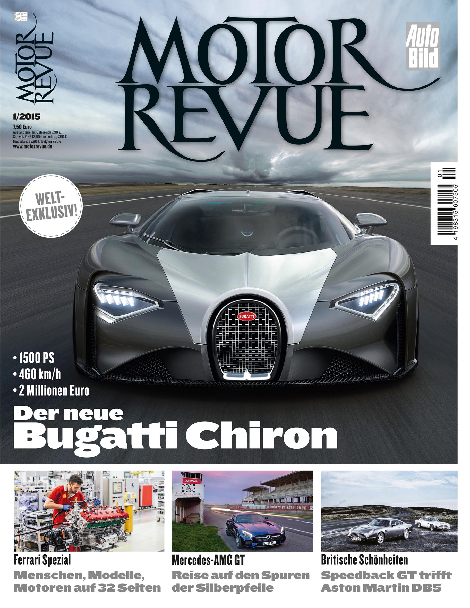 Erste Fotomontage des Bugatti Chiron von der Motor Revue