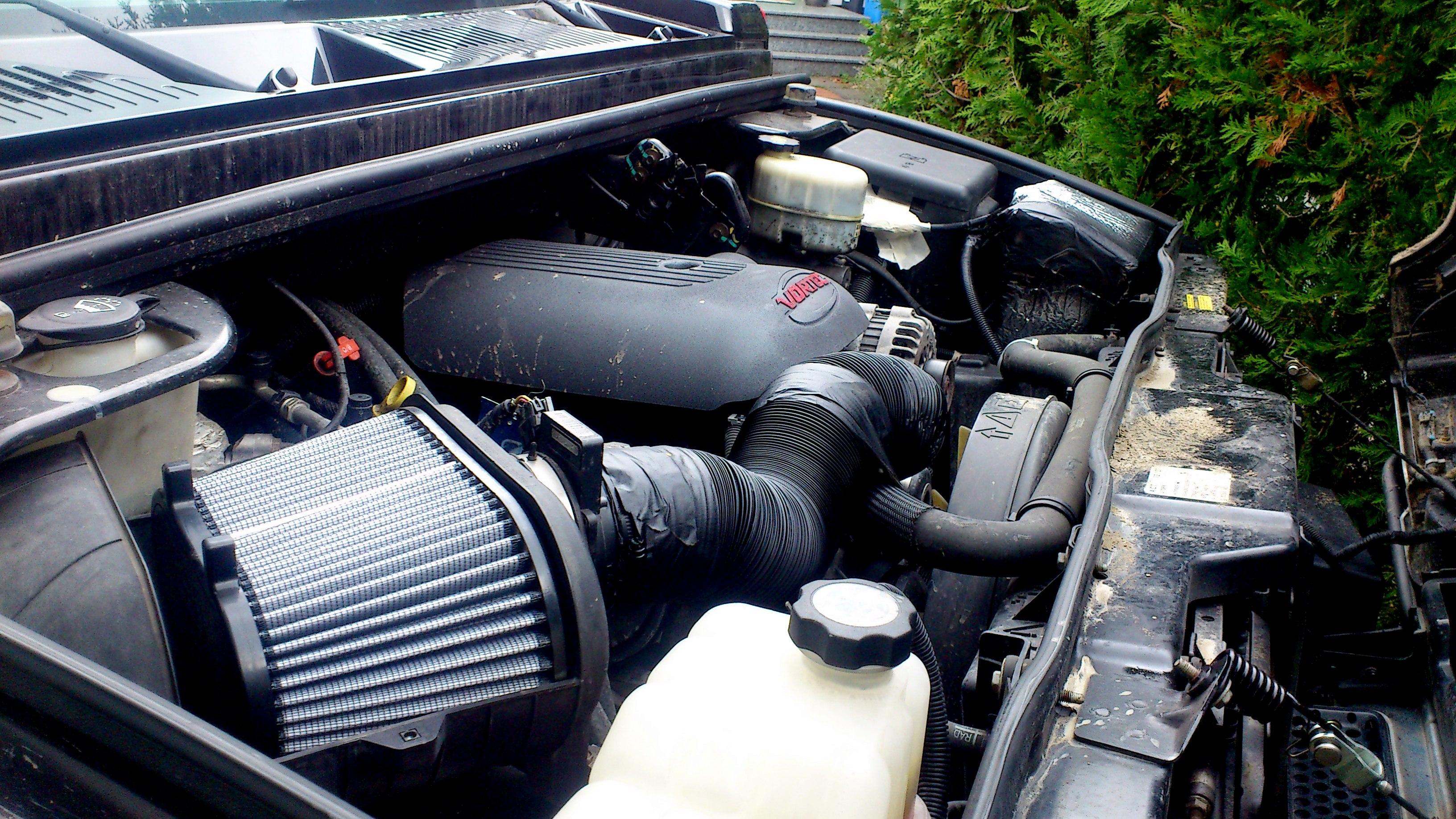Zähes Triebwerk: Im Hummer H2 arbeitet ein großer V8