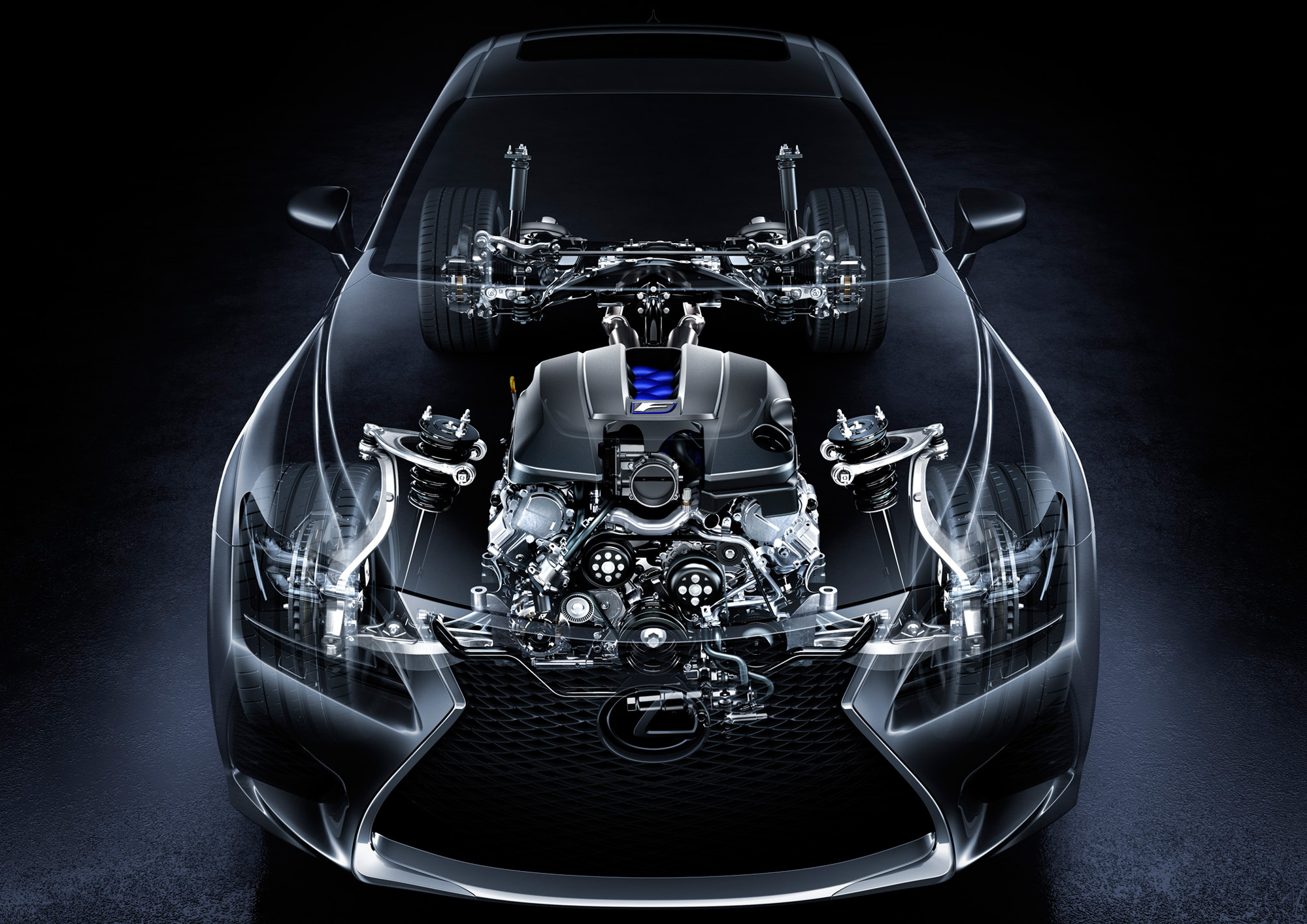 V8-Triebwerk mit 477 PS für den Lexus RC F