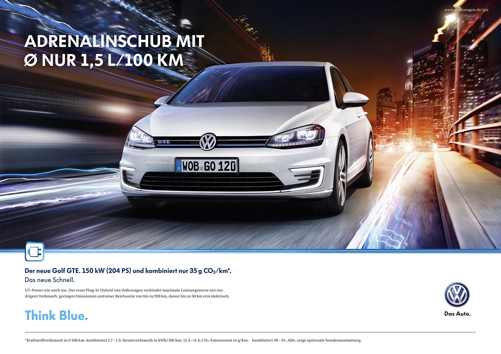 Sparsam soll er sein, der VW Golf GTE