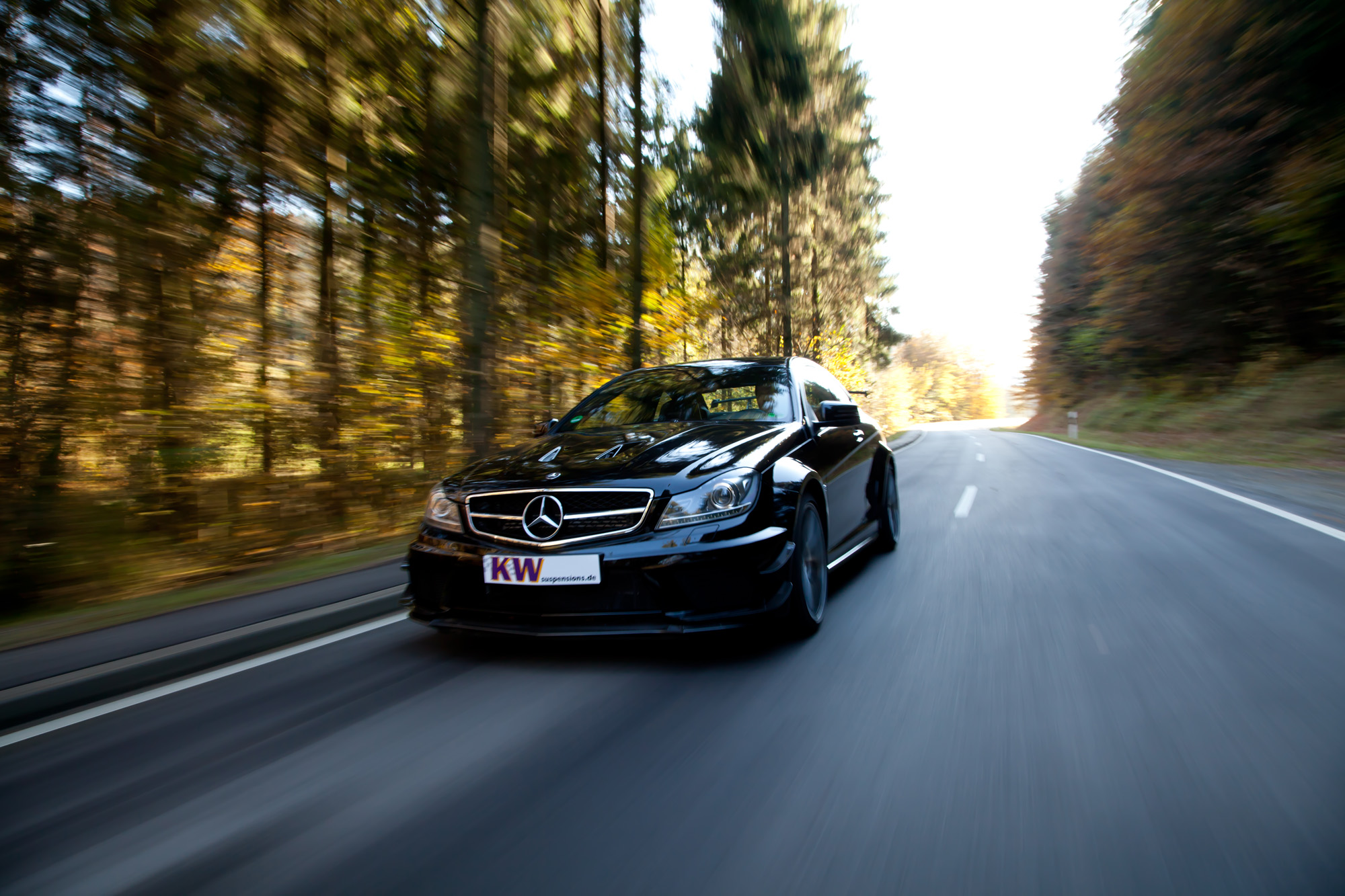 Mercedes C 63 AMG Black Series unterwegs