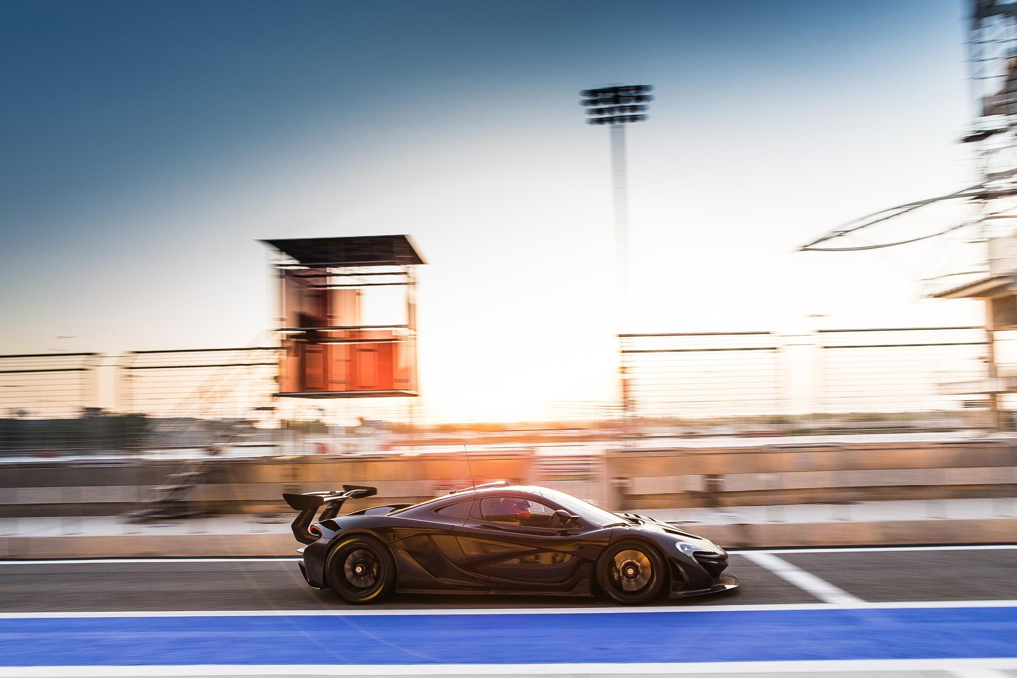 Der McLaren P1 GTR auf der Zielgeraden