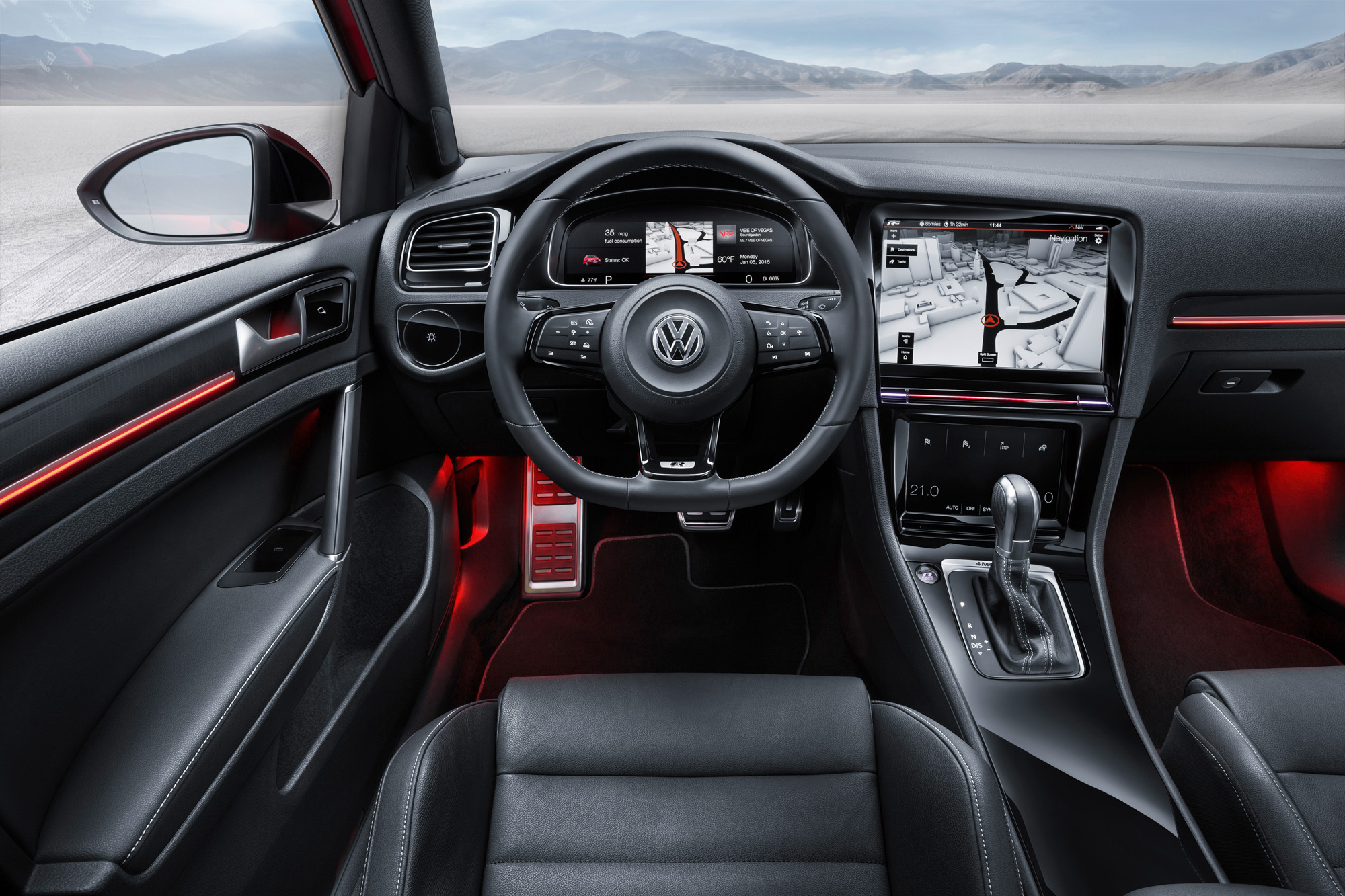 VW Golf 7 R Touch Display Mittelkonsole