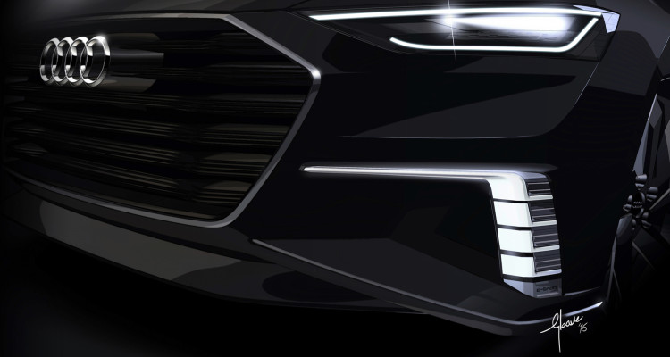 Zwei Tagfahrlichter am Audi prologue Avant