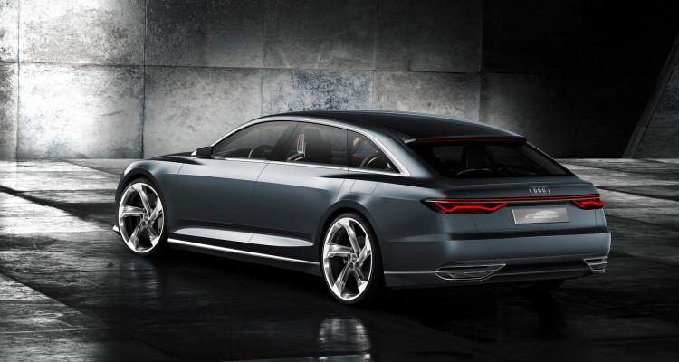Futuristisches Design der Audi prologue Avant-Heckpartie