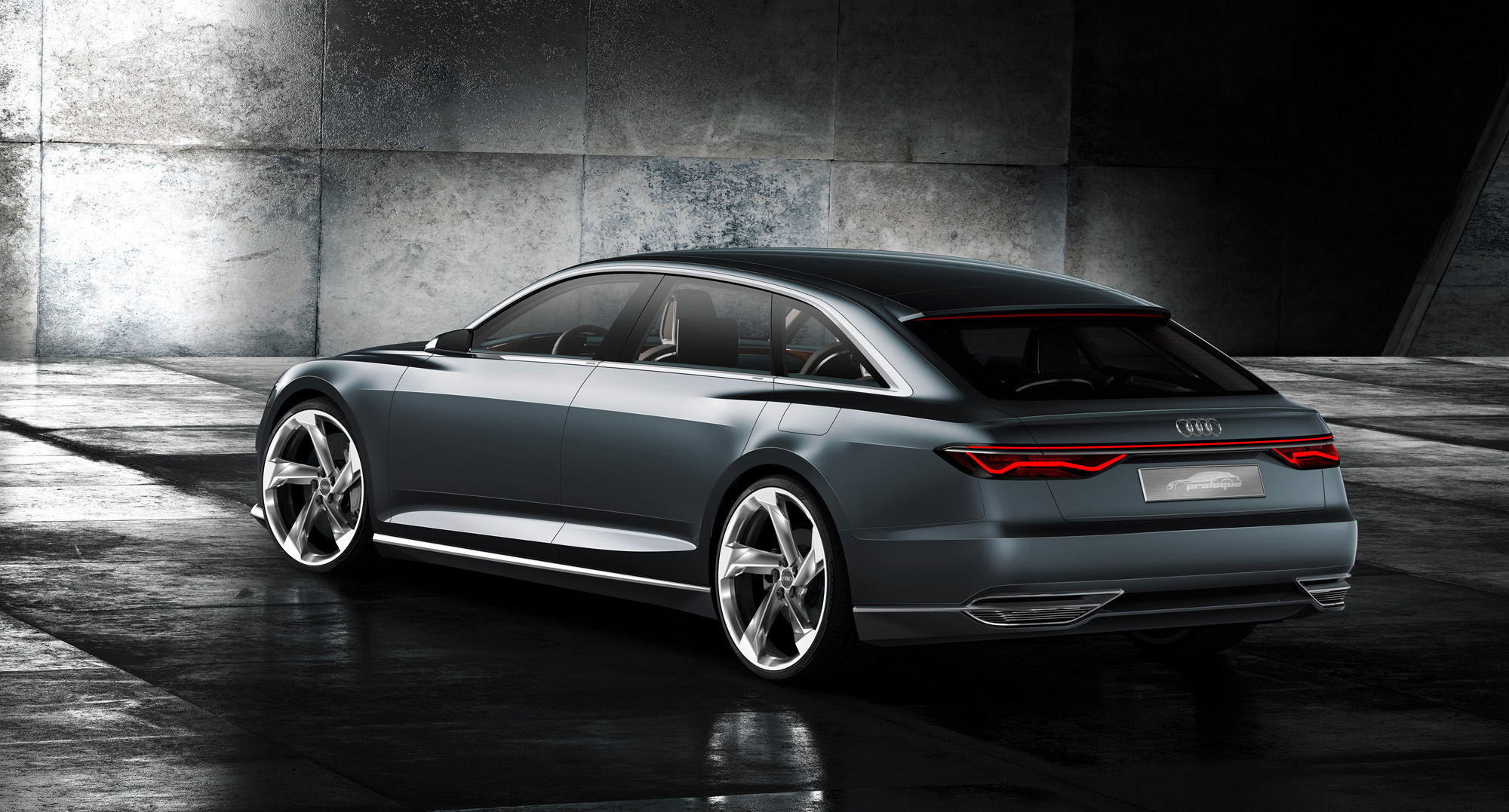 Futuristisches Design der Audi prologue Avant-Heckpartie