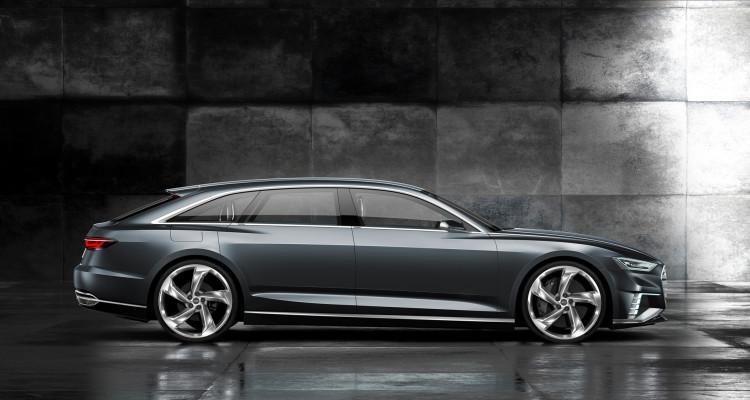 Seitenpartie des Studienfahrzeugs Audi prologue Avant