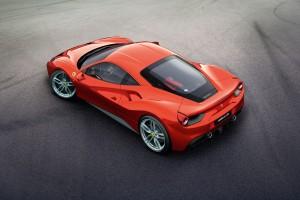 Dachperspektive des Ferrari 488 GTB