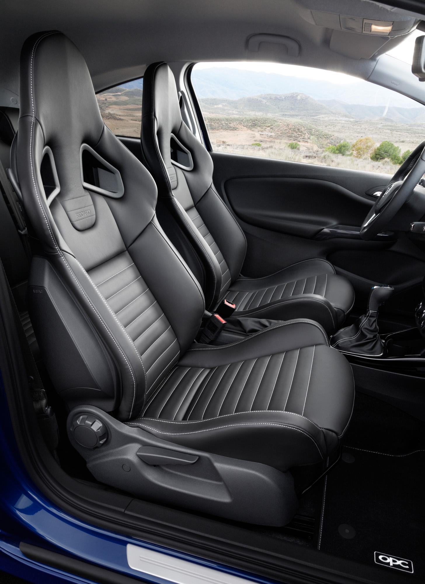 Interieuransicht des Opel Corsa OPC