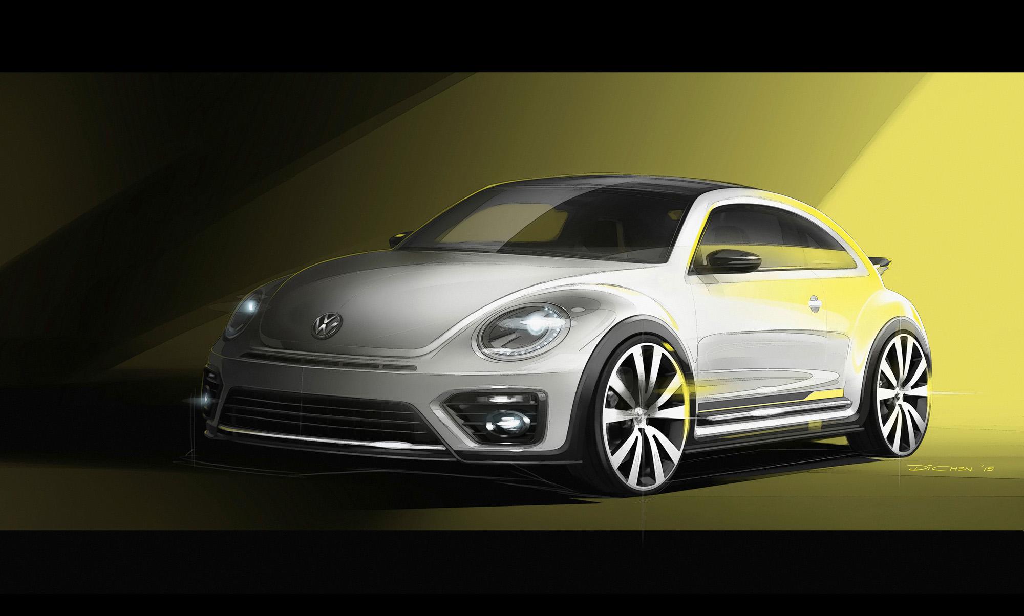 Das VW Beetle Concept R-Line in der Skizze.