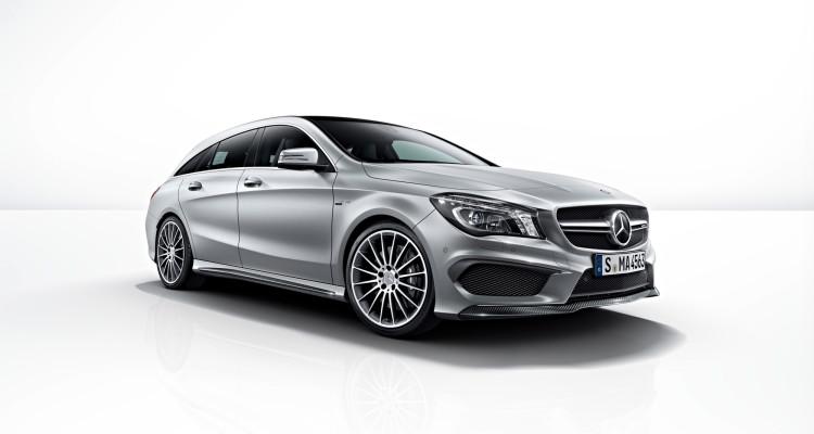 Imposant, bei Bedarf kann der Mercedes CLA 45 AMG Shooting Brake aber auch zurückhaltend sein.