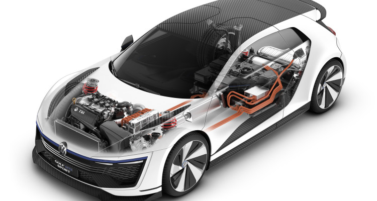 Die Motorenkonstellation des VW Golf GTE Sport ist gut durchdacht.