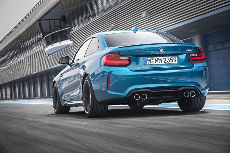 Heckansicht des neuen BMW M2