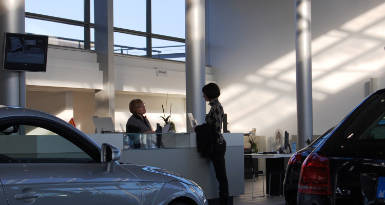 Kundengespräch im Autohaus.