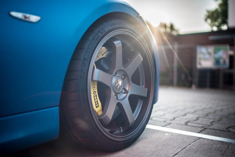 Zurückhaltende Felgen am BMW M350d Touring