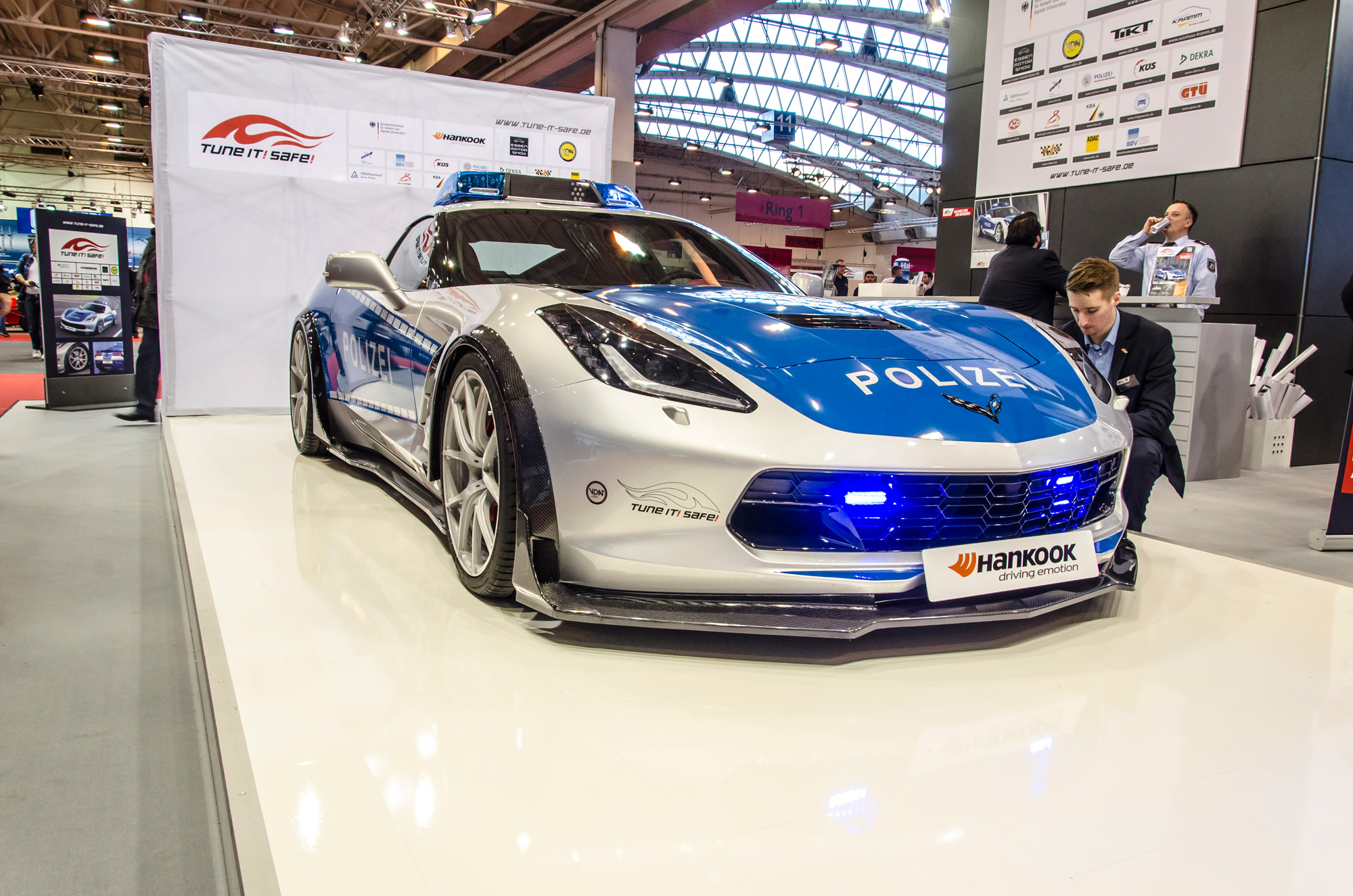 Corvette als Polizeimobil