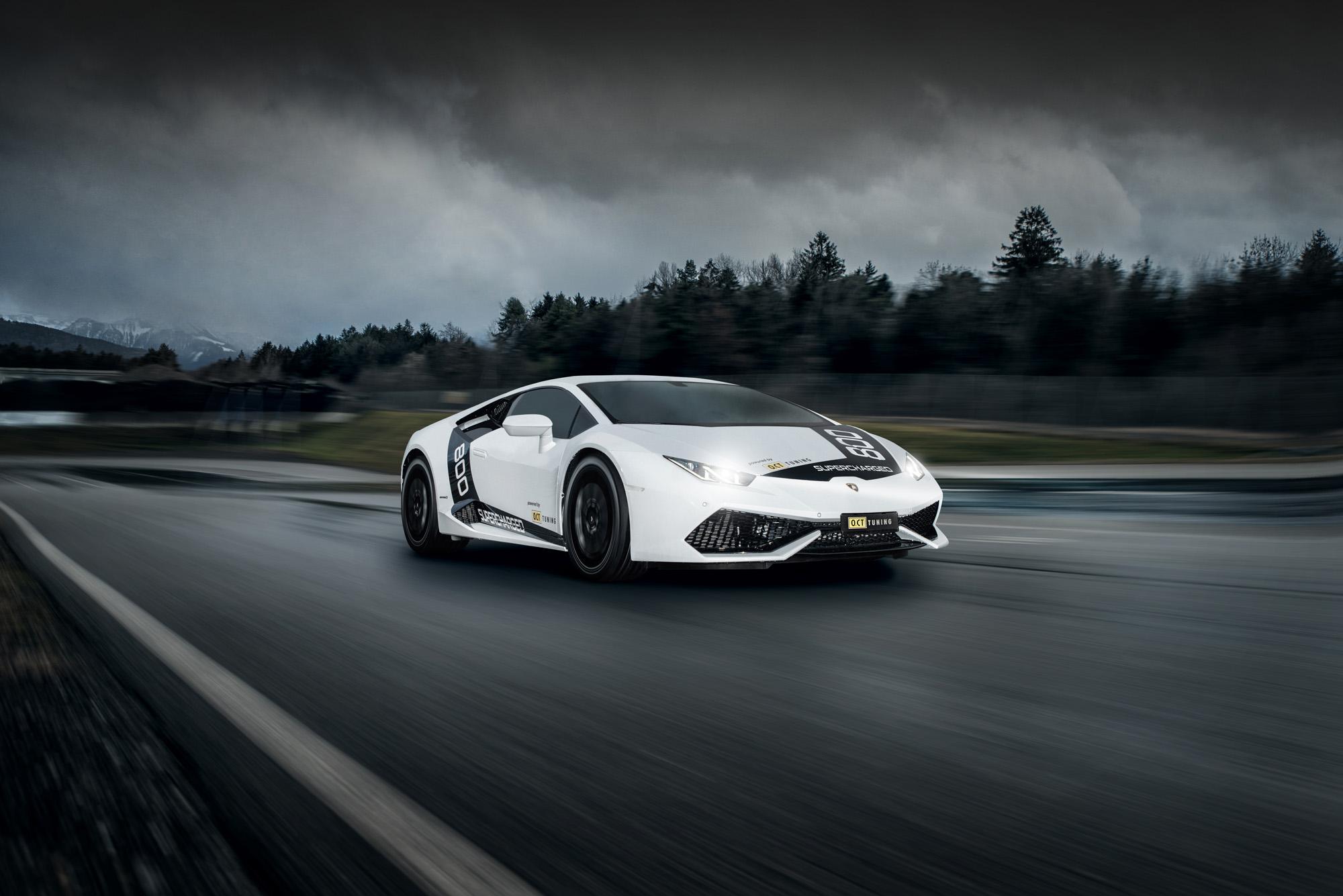 Brutal schnell: Der Lamborghini Huracán O.CT800 fliegt in 2,5 Sekunden auf Tempo 100.