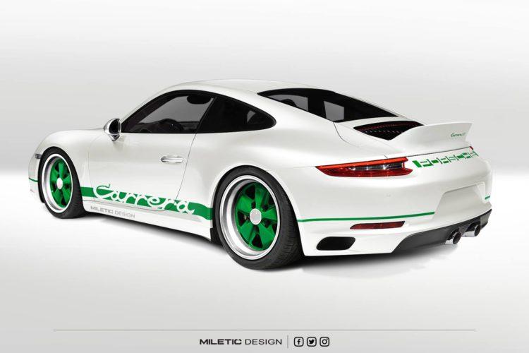 Knackfrisch Vs. Oldschool: Dieses Porsche Carrera Retro Concept vereint beide Welten.