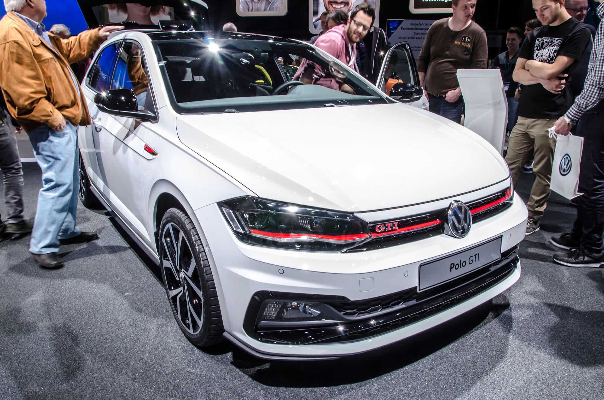 Der Neue im Bunde: Als GTI durfte der VW Polo nahe bei den großen Brüdern stehen.